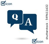 q a sign symbol. speech bubbles ... | Shutterstock .eps vector #549611632