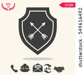 shield with arrows. protection... | Shutterstock .eps vector #549616492