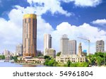 Cairo city, seafront of Nile River. Cairo, Egypt. - stock photo