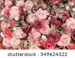 roses background in vintage... | Shutterstock . vector #549624322