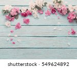apple flowers on wooden... | Shutterstock . vector #549624892