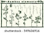 bamboo elements collection on... | Shutterstock .eps vector #549636916