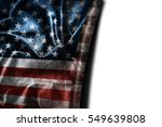 usa flag background with... | Shutterstock . vector #549639808