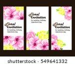 romantic invitation. wedding ... | Shutterstock .eps vector #549641332