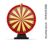 red wheel of fortune  isolated... | Shutterstock .eps vector #549645388