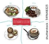 vietnamese menu colorful... | Shutterstock .eps vector #549648325