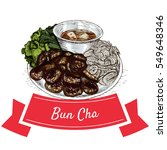 bun cha colorful illustration.... | Shutterstock .eps vector #549648346