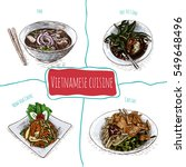 vietnamese menu colorful... | Shutterstock .eps vector #549648496