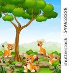 vector illustration of cartoon... | Shutterstock .eps vector #549653338