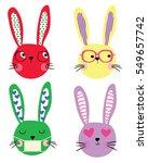 cute rabbits  | Shutterstock .eps vector #549657742