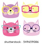 Stock vector cute cats 549659086
