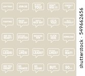 speech bubbles set. | Shutterstock .eps vector #549662656