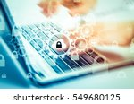protect cloud information data... | Shutterstock . vector #549680125
