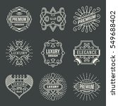 luxury royal insignias retro... | Shutterstock .eps vector #549688402
