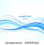 blue abstract background | Shutterstock .eps vector #54969163