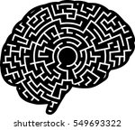the labyrinth of the brain. | Shutterstock .eps vector #549693322