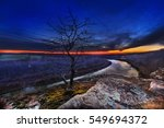 overlooking the osage river as... | Shutterstock . vector #549694372