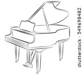 line drawing of a grand piano.... | Shutterstock .eps vector #549698482