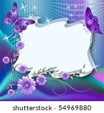 Magic Floral Background With...