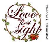 vector typography vintage... | Shutterstock .eps vector #549704968