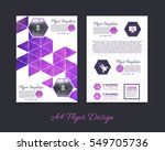 colorful polygonal brochure  a4 ... | Shutterstock .eps vector #549705736