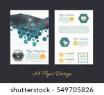 polygonal brochure  a4 flyer... | Shutterstock .eps vector #549705826