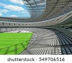 3d render of a round football   ... | Shutterstock . vector #549706516