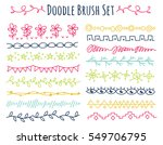 set of colorful doodle brush... | Shutterstock .eps vector #549706795
