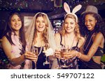 friends celebrating... | Shutterstock . vector #549707122
