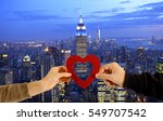 valentine's day concept in new... | Shutterstock . vector #549707542
