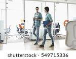 full length of businessmen... | Shutterstock . vector #549715336