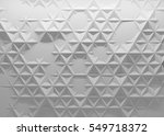 white polygonal triangle... | Shutterstock . vector #549718372