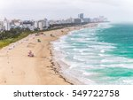 south beach view from above ... | Shutterstock . vector #549722758