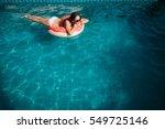 young beautiful woman wearing... | Shutterstock . vector #549725146