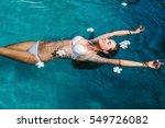 Beautiful Female In Swimming...