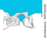 side  turkey  old town gate ... | Shutterstock .eps vector #549726106
