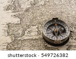 compass on vintage map | Shutterstock . vector #549726382