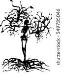 death tree | Shutterstock .eps vector #549735046