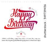 vector alphabet. calligraphic... | Shutterstock .eps vector #549739456