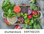 vegetables  fruit  seeds ... | Shutterstock . vector #549740155