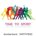 color sport  background.... | Shutterstock .eps vector #549747832