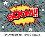 boom comic speech bubble.doodle ... | Shutterstock .eps vector #549748636