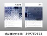 brochure layout template flyer... | Shutterstock .eps vector #549750535