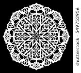 lace round paper doily  lacy... | Shutterstock .eps vector #549752956