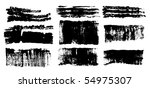 vector ink brush strokes set | Shutterstock .eps vector #54975307