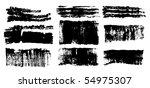 vector ink brush strokes set | Shutterstock .eps vector #54975307