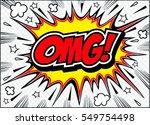 omg comic speech bubble.doodle  ... | Shutterstock .eps vector #549754498