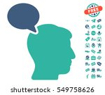 person opinion icon with free... | Shutterstock .eps vector #549758626