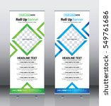 roll up banner template design  ... | Shutterstock .eps vector #549761686