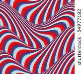 Op Art Flowing Stripes Red Blue ...